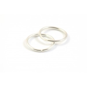 12MM JUMPRING SILVER PLATED (PACK OF 25)