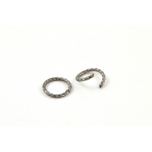 10MM TWISTED JUMPRING BLACK NICKEL (PACK OF 50)