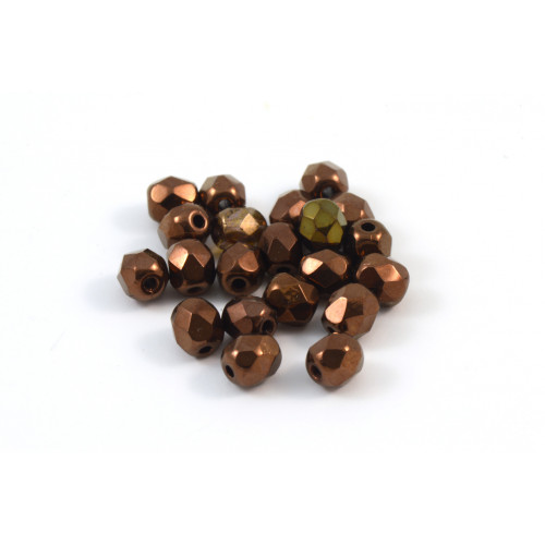 Facette bronze 4mm