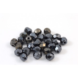 Facette hematite 4mm