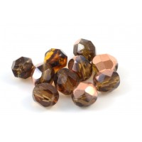 Facette transparent smoked topaz cap 6mm