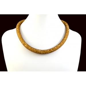 COLLIER TUBE ET BRILLANCE