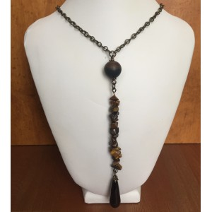 Agate and tiger eyes necklace