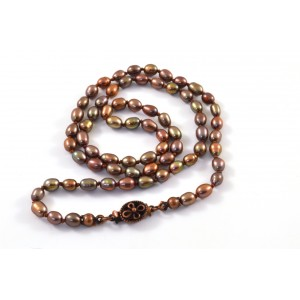 Bronze freshwater pearls necklace