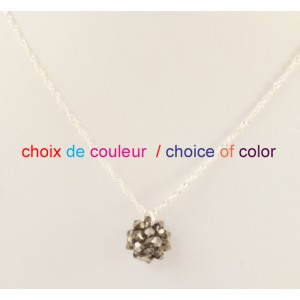 Dodecahedron necklace with sterling silver .925 chain