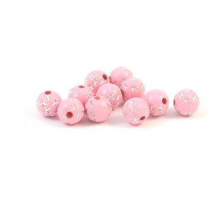 BILLE RONDE ACRYLIQUE 8MM ROSE