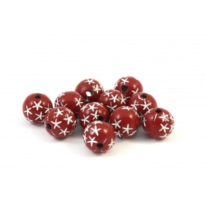 BILLE RONDE ACRYLIQUE 8MM ROUGE