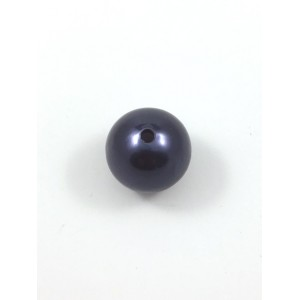 ACRYLIC PEARL ROUND 24MM BLUE