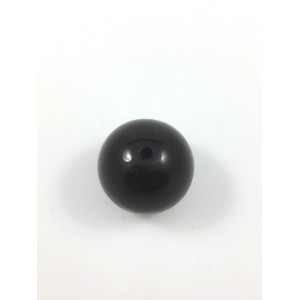 ACRYLIC PEARL ROUND 30MM BLACK*