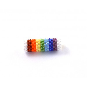 Hand made multi- color 20x6mm bead