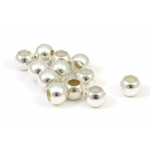 SMOOTH SILVER ROUND BEAD 6MM