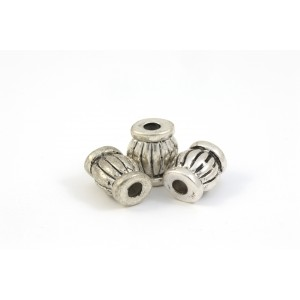 BILLE ARGENT ANTIQUE BARRIL 15X12MM