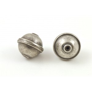 BILLE ARGENT GRIS ANTIQUE 15MM