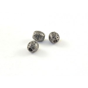 BILLE STYLE BARRIL 7X5MM NICKEL NOIR