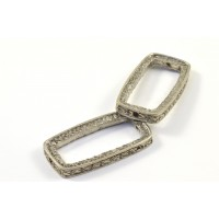 Antique silver rectangle bead frame