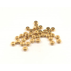 Spacer metal rondelle 4x2mm gold ( pack of  25)