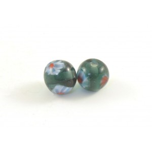 10MM ROUND GLASS BEAD BLUE GREEN