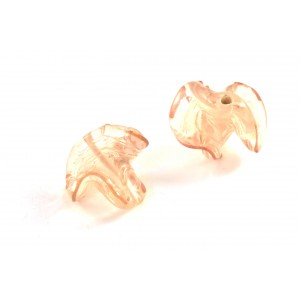 BILLE DE VERRE TWIST 22X20MM CHAMPAGNE