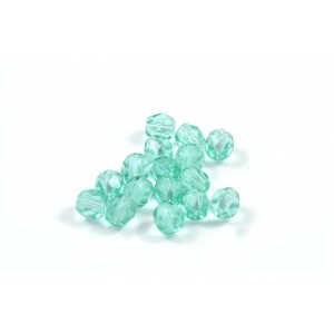 Facette light aqua vert 4mm
