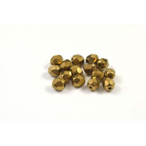 Facette bronze pale metallique 4mm