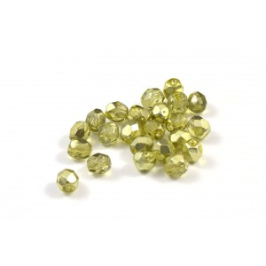 Facette olive  4mm
