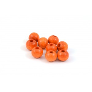 BILLE DE BOIS ROND 8MM ORANGE