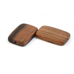 BILLE DE BOIS DE KAMAGONG NATUREL RECTANGLE PLAT 30MM