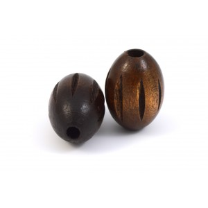 BILLE DE BOIS OVAL 30X21MM BRUN