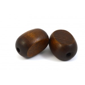 BILLE DE BOIS OVAL 25X16MM BRUN