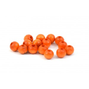 BILLE DE BOIS ROND 6MM ORANGE (PAQUET DE 10)