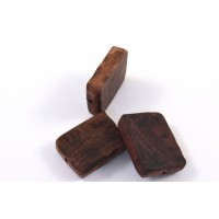 Rectangle bead purpleheart wood