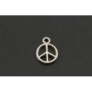 BRELOQUE ARGENT ANTIQUE PEACE 12X10MM
