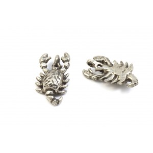 BRELOQUE ARGENT ANTIQUE SCORPION 20X11MM