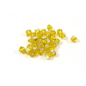 BICONE SWAROVSKI (5328) 4MM LIME AB