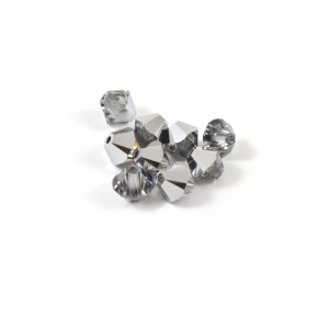 BICONE SWAROVSKI (5328) 6MM LIGHT CHROME