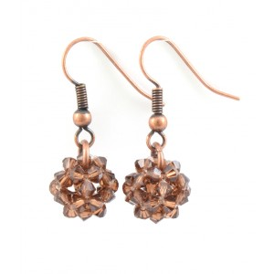 Flotting dodecahedron earrings