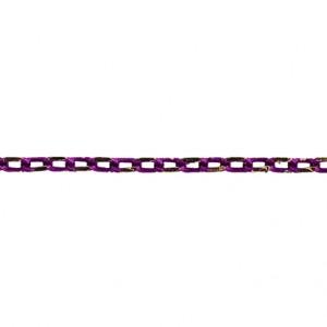 CHAÎNE NEO 3.5X2MM MAUVE ET OR