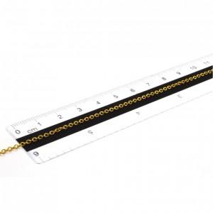 Chaîne câble soudé acier inoxydable or de 1,8mm