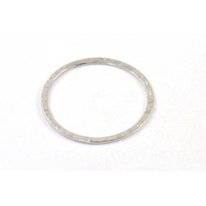 24mm ring hammered rhodium color