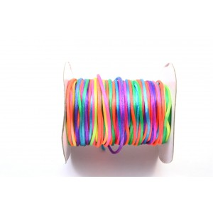 CORDE  QUEUE DE RAT 2MM MULTI COULEURS