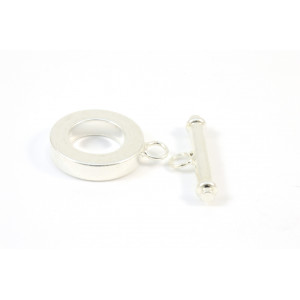 TOGGLE ROND 15MM PLAQUÉ ARGENT
