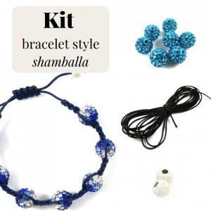Kit pour fabrication de bracelet style Shamballa