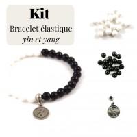 Kit pour fabrication de bracelet yin et yang