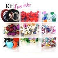 Kit pour fabrication de bijoux boîte Fun mixtes