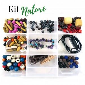 Kit pour fabrication de bijoux boîte Nature