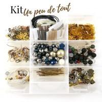 Kit pour fabrication de bijoux La boîte un peu de tout