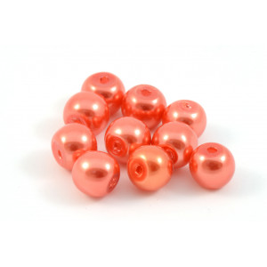 PERLES DE VERRE 6MM ORANGE