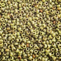 MIYUKI SEED BEAD NO. 11 PICASSO OPAQUE CHARTREUSE