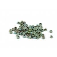 MIYUKI SEED BEAD NO. 11 PICASSO OPAQUE TURQUOISE BLUE