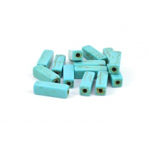 TUBE MAGNÉSITE 13X4MM TURQUOISE